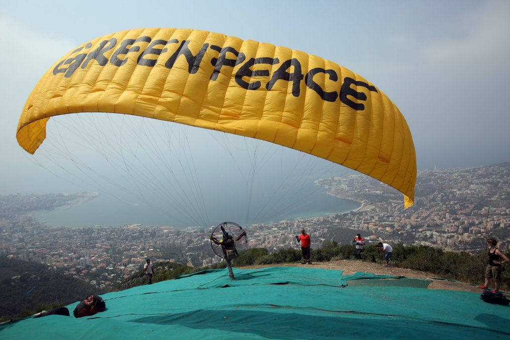 Greenpeace Paramotor