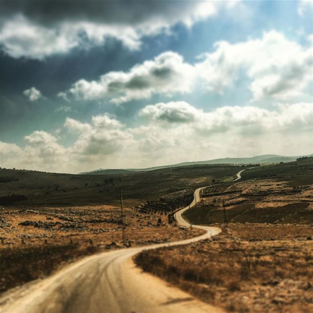 One way #road... out of #paradise.  The  (Yaroun - South Lebanon)