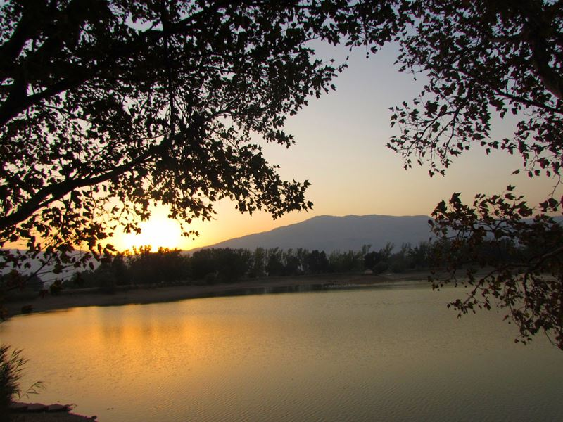 Sunset in Taanayel Lake Bekaa