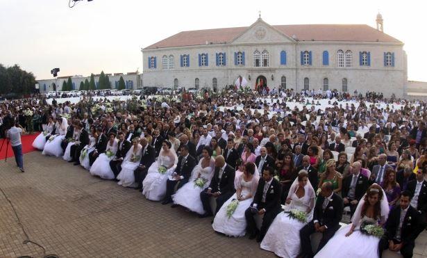 Mass Wedding 2013 Bkerke