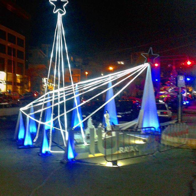 christmas crêchefete decoration lights noel (Zahle Boulvard)