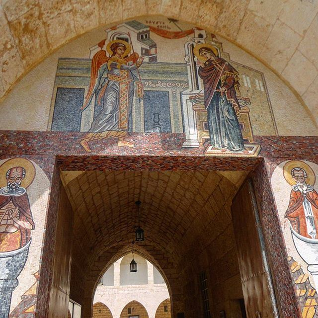 oldchurch oldmonastery religion architecture oldstructure archleb arcade (Saydet El Nourieh)