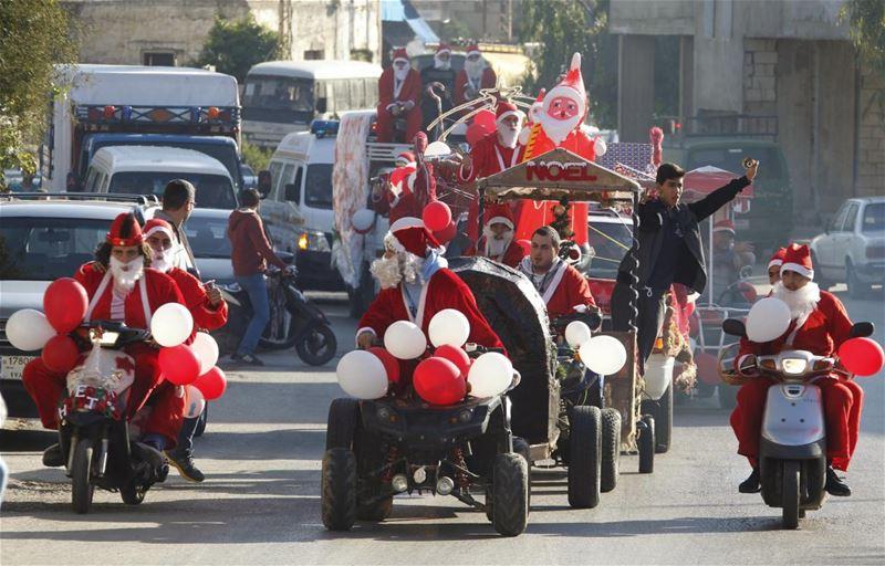 Christmas Convoy in Jieh Lebanon