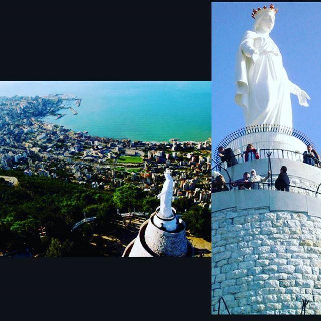 """سيدة_لبنان """" في حاريصا منظر خلاب يطل على مدينة_جونية"""