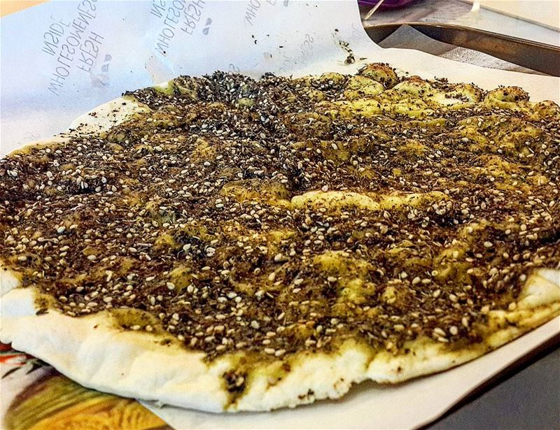 When for once you actually eat a Zaatar