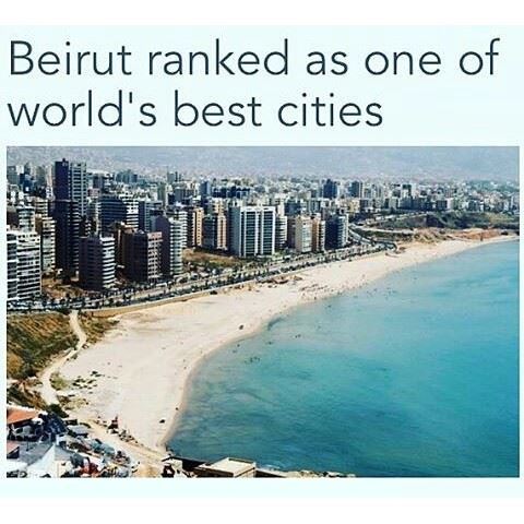 Beirut: Lebanon's capital Beirut has been ranked among the World's best Cities according to a NewYork based Travel Magazine 👏🏼👏🏼🇱🇧 Congratulations to this Wonderful City! 🏆🔝 (Beirut, Lebanon)