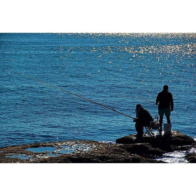 Fishing is always a way for relaxing. 🎣 (Byblos - Jbeil)