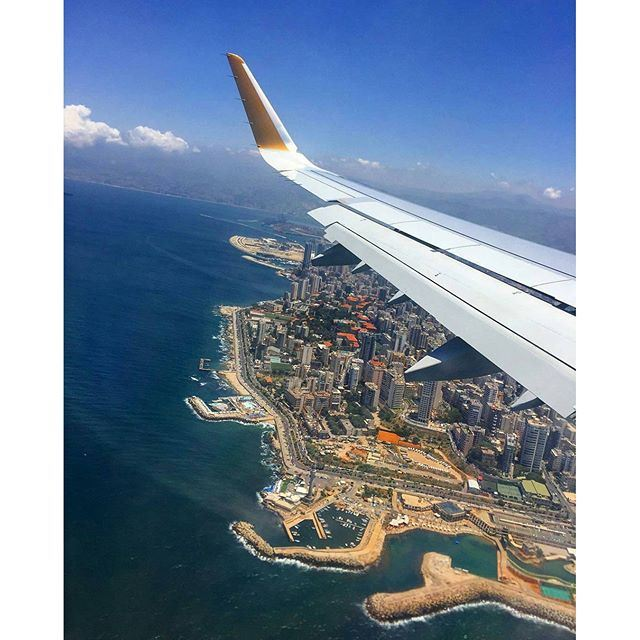 Beirut from above. 🛫✈ (Beirut, Lebanon)