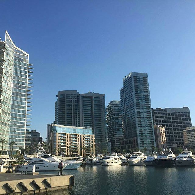 Good morning from Sunny Beirut. 🇱🇧☀️⚓️ (Zeituna Bay)