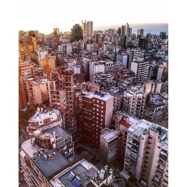 Sunset in Beirut 🌞☀️🌝 (Staybridge Suites Beirut)