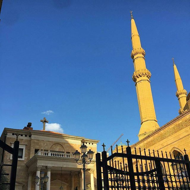Just one example of coexistence and tolerance in the center of the Middle East, Beirut Lebanon... A church next to a mosque. (DownTown, Beirut)