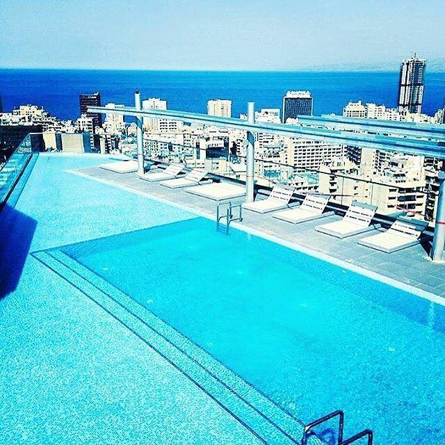 Perfect view, perfect weather 🍹☀️ (Verdun Beirut)