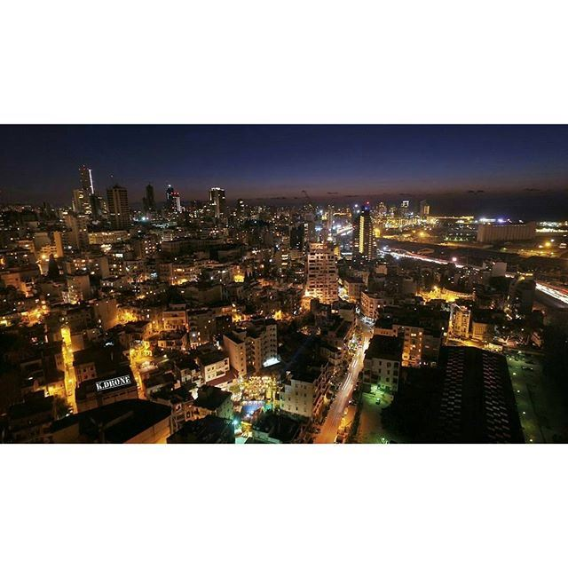 City lights and Sunset... Good Night Beirut. (Beirut, Lebanon)