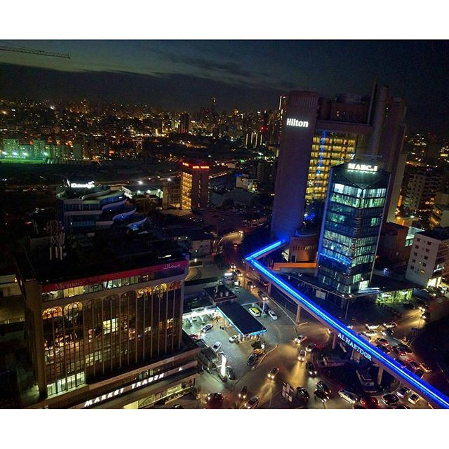 Beirut At Night 🌃 (Hilton Beirut Habtoor Grand)