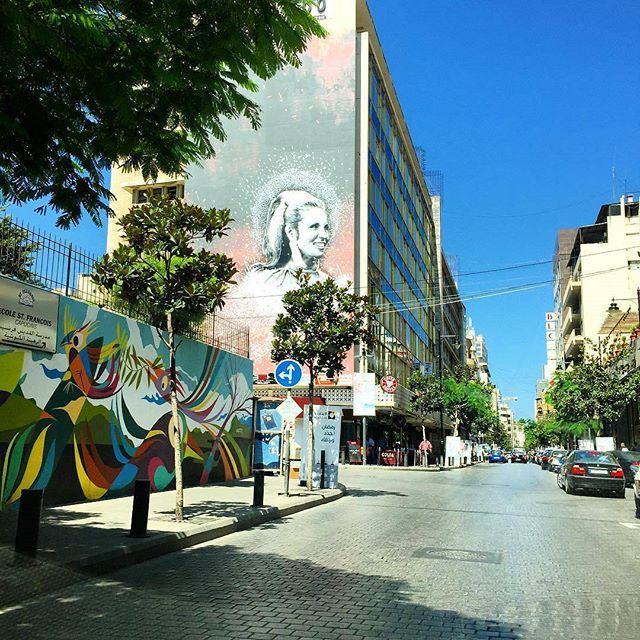 Hamra Street Beirut 💙💚💜💛