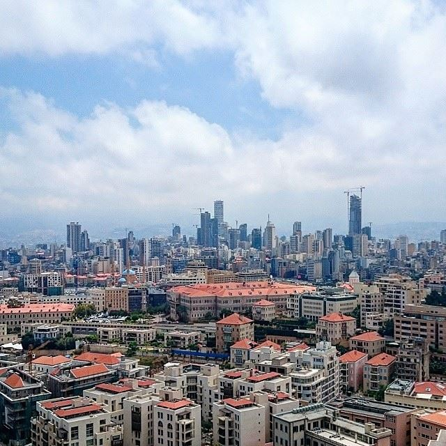 BEIRUT beirut damac tower roof top morning view lovebeirut lovelebanon loveleb sea side beirutcity Photo By @mj_ayoub