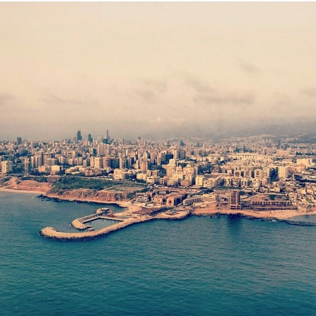 Beautiful beirut from the airplane... Always 1 in our ❤ lebanon