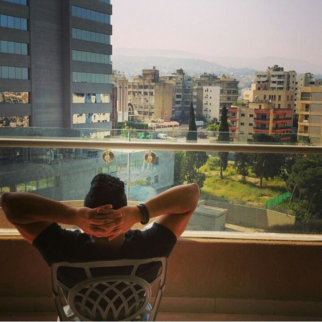 Super view about Beirut. Great moments in Hilton Habtoor Beirut HiltonHabtoor (Hilton Beirut Habtoor Grand)