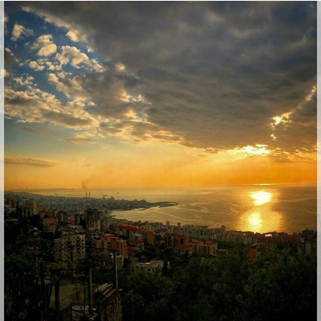 Amazing sunset from jounyeh Lebanon