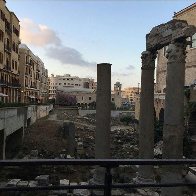 Old roman ruins Beirut BeirutCity