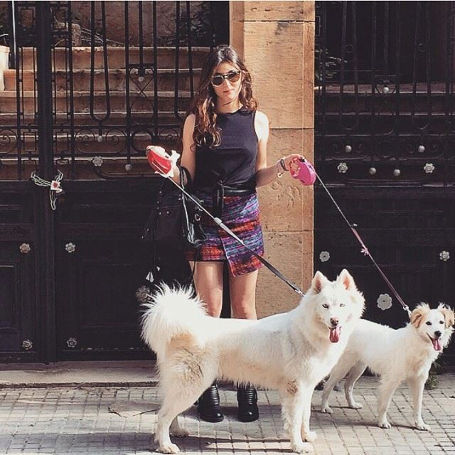 Walking these two beauties 🐶🐩 beirut beirutcity achrafieh lebanon lebanese (Achrafieh, Lebanon)