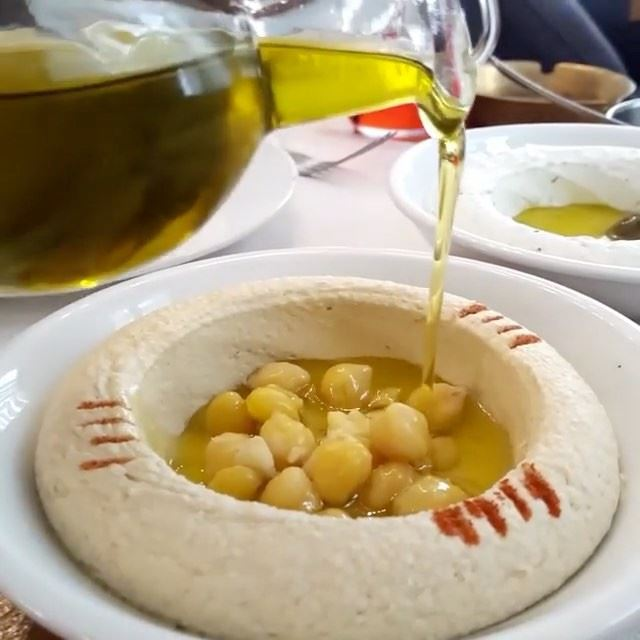 Sunday Lunch at @enabbeirut is not complete without Hummus!