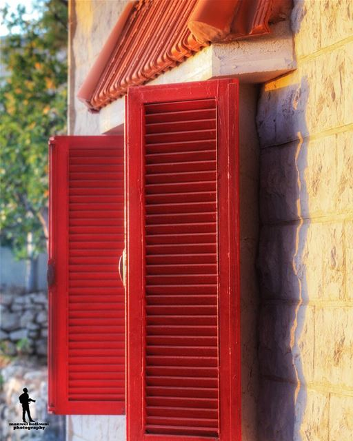 red window from a lebanese house