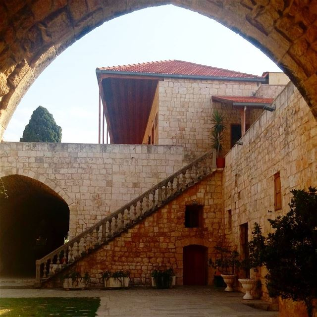 Beautiful traditional Lebanese Architec (Balamand Monastery)