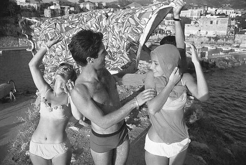 Jbeil Beach in 1965