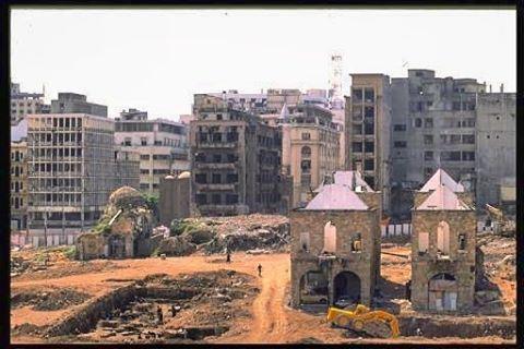 وسط بيروت ١٩٩٥ ,Downtown Beirut 1995 .