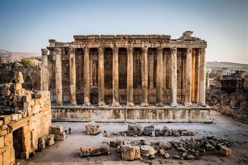 The Temple of Jupiter, Roman ruins in the Baalbek, Roman Temple