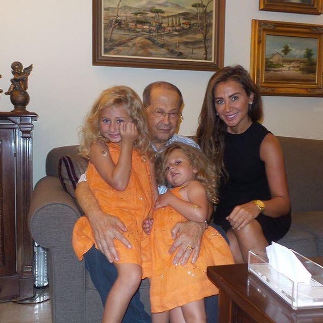 Ghina Ghandour & Her Angels with Mr President!
