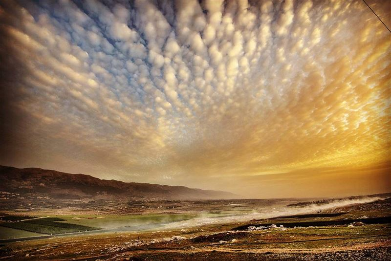 Sunrise from Joub Jannine Beqaa Valley.