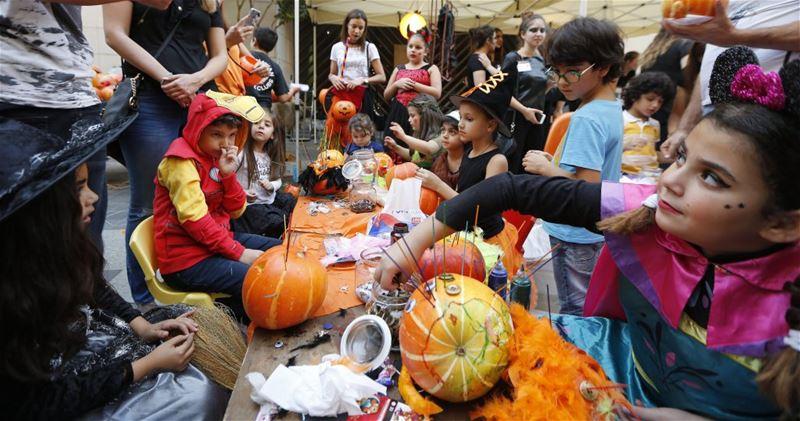 Lebanese Children in Halloween