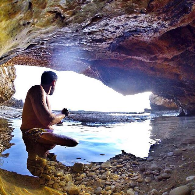 The cave man...
