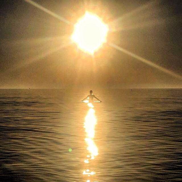 Feeling the light...