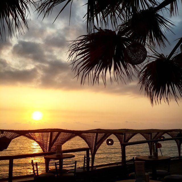 Enjoy a beautiful sunset in jbeil @oasisopenairpub