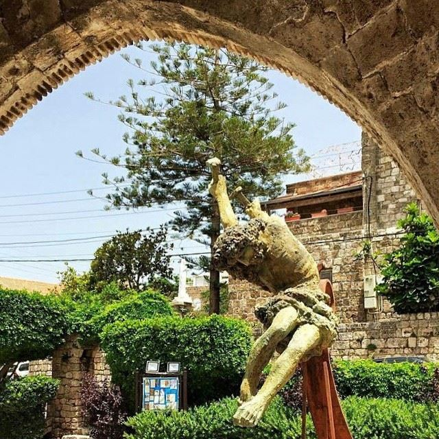 Sculpture by Roudy Rahmeh at St.John Marc Cathedral Byblos.