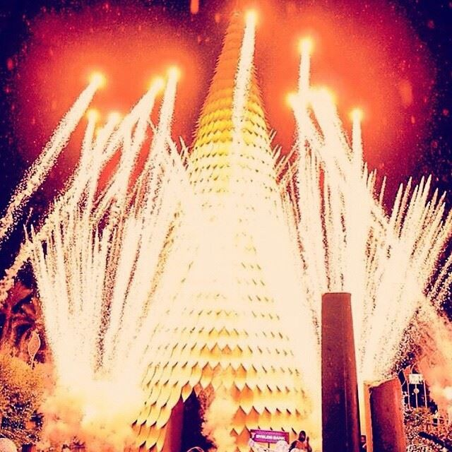 Last night @livelovebyblos was on fire thanks to TonyGhostineFireworks closing the year with lights of hope and happiness! Photo by @beautybycrisma