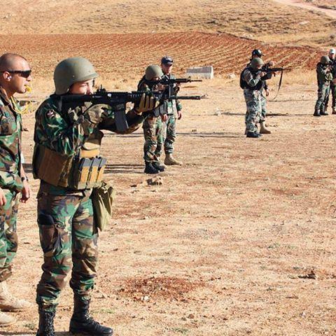 تدريب اناث الجيش اللبناني على الرماية ✌️🇱🇧
