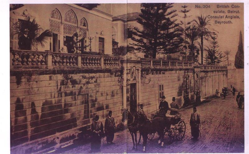 British Consulate in Beirut 1900s