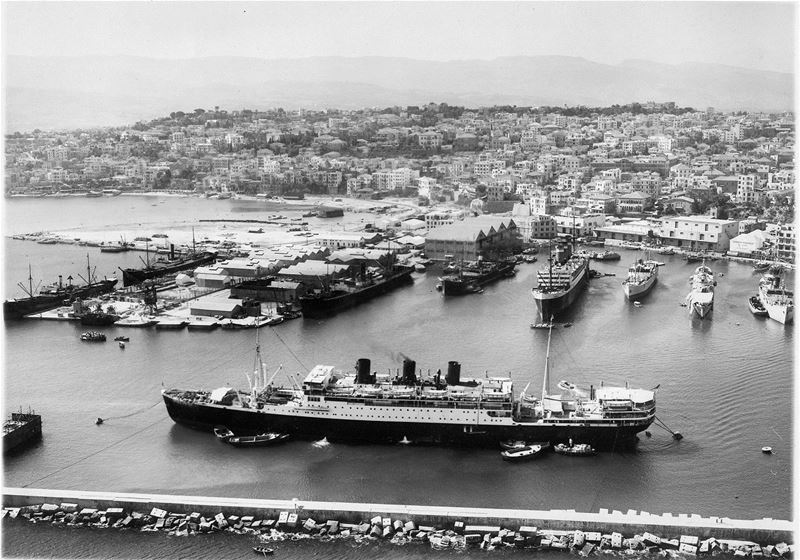 The Champollion ship in Beirut Port 1939