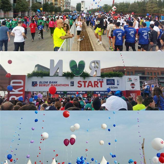 Beirut Marathon 2016 Start Line