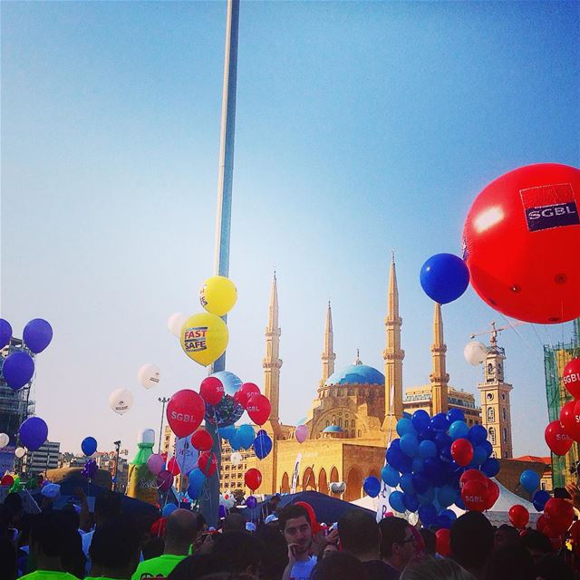🎈🏃#marathonbeirut