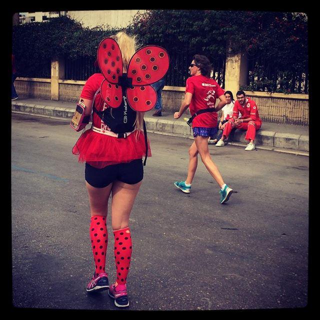 Sweaty ladybug 🐞(Beirut Marathon)