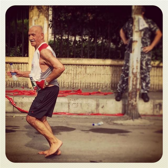 Who needs shoes to reach 31K at the marathon? (Beirut Marathon)