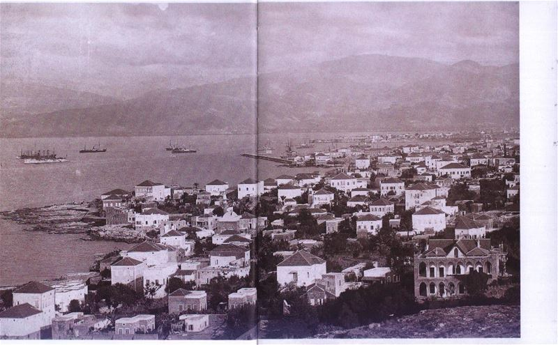A panoramic photo for Cornish Beirut  1940s