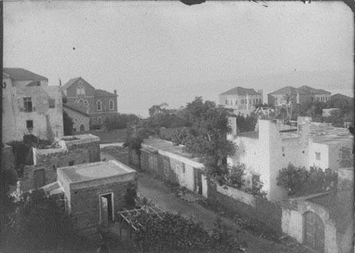 Abdul Aziz Street, with AUH on the right  1890s