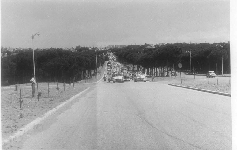 Beirut Airport Road  1958