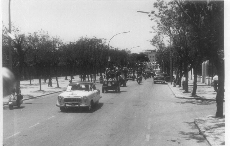 Avenue Near Horsh Beirut  1958